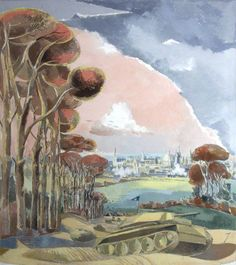 Oxford During The War - Your Paintings - Paul Nash paintings Barbara Hepworth, Landscape Art, Landscape Paintings, Landscapes, English Artists, British Artists, Post Impressionism, Art Uk, Your Paintings