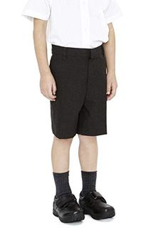 9077285bf809 Boys Pull up School Shorts Elasticated Pull On Black Grey Navy Ages 2 3 4 5