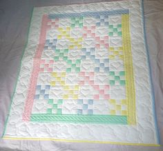 Hey, I found this really awesome Etsy listing at https://www.etsy.com/listing/228829005/amish-baby-quilt-traditional-nine-patch