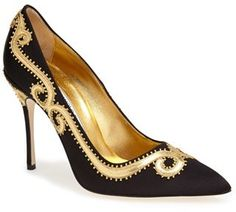 Manolo Blahnik 'Traspuesto' Satin Pointy Toe Pump (Women) on shopstyle.com