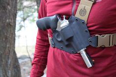 Kenai Kydex Chest Holster by GunfightersINCKydex on Etsy https://www.etsy.com/listing/234139541/kenai-kydex-chest-holster