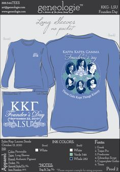 For sigma kappa, this would be so cool. Show others what we are SO proud of