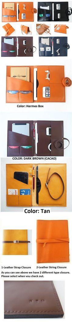 Item No 1014 Top grain leather Multi-functional portfolio \ case - leather resume portfolio