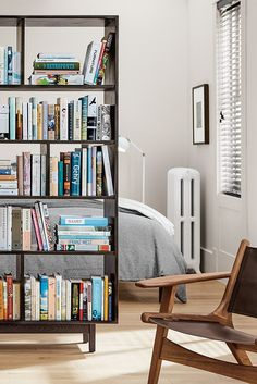 Small space? No problem. Our Dahl bookcase doubles as a functional room divider.