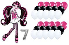 Monster High Birthday Balloon Bundle With Airfill by BalloonDoctor
