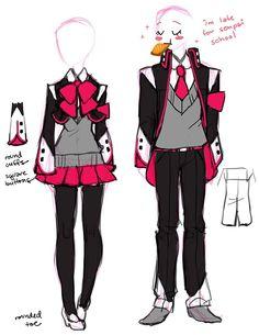 Manga Clothes, Drawing Anime Clothes, Kawaii Clothes, Fashion Design Drawings, Fashion Sketches, Character Outfits, Character Art, Arte Do Kawaii, Clothing Sketches
