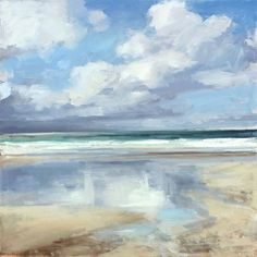 Great abstract ocean painting This is not an abstraction This is very close to realism