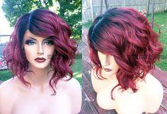 20% OFF 'till 3/18 Human Hair BLEND Short Bob Wine by WantableWigs