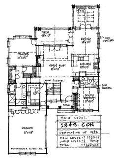 First Floor Plan - Conceptual Design #1349http://houseplansblog.dongardner.com/conceptual-design-plan-1349/