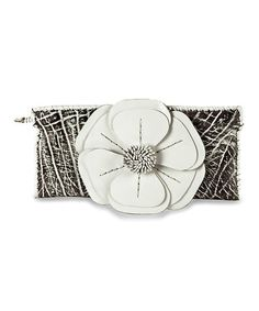 Take a look at this Black & White Natalie Clutch by Adam Alexis on #zulily today! $60 !!