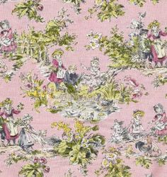 LOVE this fabric. Would look great in a little girls room.