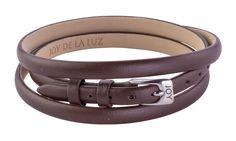 Joy de la Luz | Leather buckle bracelet brown  €24,95