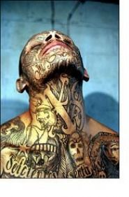 MS13.. not to endorse the gang but those tatts are crazzy cool