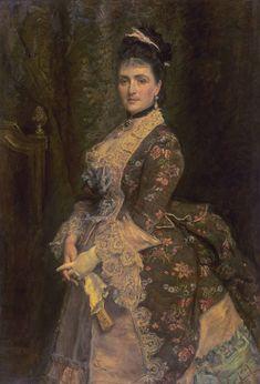 John Everett Millais: Portrait of Mrs. Bischoffsheim. Oil on canvas (1873). Tate Collection