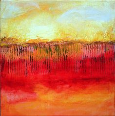 Original Abstract Minimalist Landscape Painting by LindaSuzStudios, $79.00
