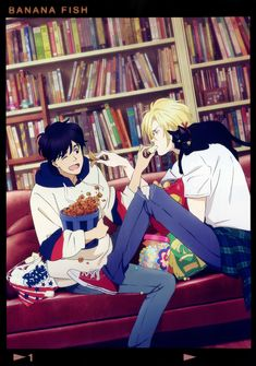 Banana Fish : Ash x Eiji Fish Wallpaper Iphone, Canon Anime, All Out Anime, Chibi, Brave, Kawaii, Japanese Men, Japanese Cartoon, Shounen Ai