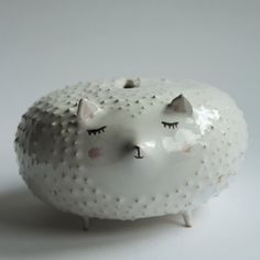 John the hedgehog - sweet ceramic moneybox with legs, spikes, piggybank