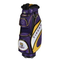 NCAA Louisiana State Tigers The Bucket Cooler Cart Bag by Team Effort. $199.90. Vibrant collegiate colors and five embroidered collegiate trademarks enable you to prominently display your support for your favorite university! The Bucket Cooler Cart Bag features eight forward facing strategically placed zipper pockets - including The Bucket cooler pocket, a velour lined water-resistant valuables pocket, range finder pocket, dual apparel pockets, two accessory pockets, and ...