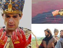 AMO VOCÊ EM CRISTO: Cenas da primeira praga do Egito levam Os Dez Mand...