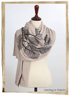 Loving the screen-printed scarves right now.