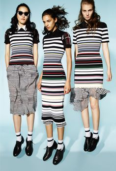 Striped knits Preen Line Spring 2016