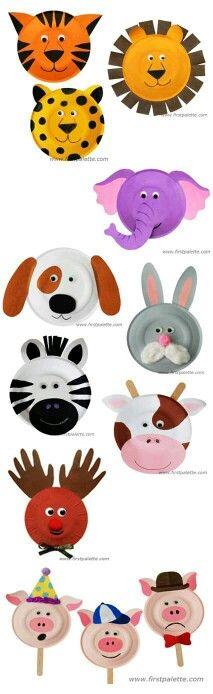 Tiere aus Papptellern