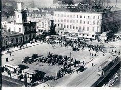 Centrum Warszawy. fot. przed 1939r., źr. fotopolska.eu. Luftwaffe, Old Photos, Ww2, Poland, Street View, Europe, World, City, Travel