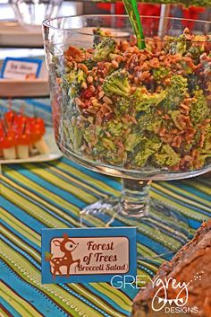 Forest of Trees: Broccoli Salad with sunflower seeds and dried cranberries