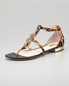 Daria Jaguar-Ornament Calf Hair Sandal by VC Signature by Vince Camuto at Neiman Marcus.
