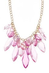 Pink Jewel Cluster Necklace. Sweet!