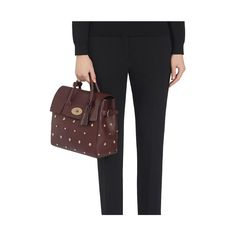 Cara Delevingne Bag with Rivets Oxblood Silky Classic Calf
