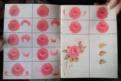 Rose Petals Stroke By Stroke by Susan Abdella. Book available on Etsy.