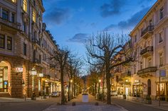 Sophienstraße, Baden-Baden, Germany. You find our hotel in this quiet boulevard on the right side of this picture www.hotel-am-sophienpark.de