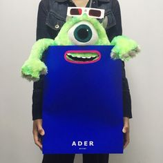 ADER package Tag. Paper glasses. Red&Blue SS16 www.adererror.com