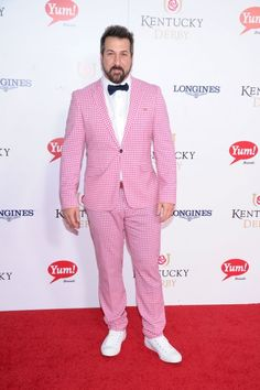 Joey Fatone at the Kentucky Derby. This is hilarious, but I applaud the idea.