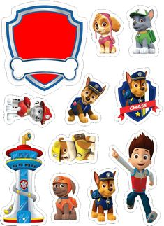 Imprimibles Paw Patrol, Paw Patrol Party Decorations, Paw Patrol Birthday Theme, Paw Patrol Cake Toppers, Cumple Paw Patrol, Paw Patrol Characters, 3rd Birthday, Crafts, Bolo Png