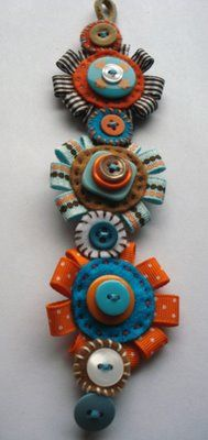 button bracelet by Poor Robin/etsy.Keen To Be Seen: Aqua and Orange Wedding