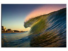 Tableau image déco belle couleurs sur la vague dans la catégorie Aquashot