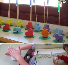 Porta fotos fang o plasti + pinxo + agulleta Kids Crafts, Mothers Day Crafts For Kids, Fathers Day Crafts, Clay Crafts, Preschool Crafts, Diy For Kids, Diy And Crafts, Arts And Crafts, Diy Y Manualidades