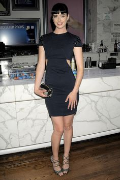 Beautiful Krysten Ritter in a little black dress. Check out more beautiful ladies at http://hotminiskirts.oohlala.club