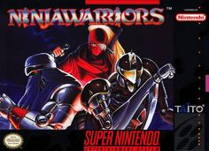 """Box art for """"Ninja Warriors,"""" a side-scrolling beat 'em up released by Taito / Natsume for the Super Nintendo Entertainment System in 1994."""