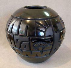 Andrews Pueblo Pottery: Native American Art including Hopi, Maria Martinez black pots, beadwork and Doug West.