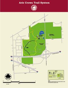 Arie Crown Forest Trail - lake and bicycling - 10 min Day Trips From Chicago, Forest Trail, Bicycling, Hiking, Camping, Bike, Crown, Map, Cycling