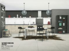 Sims 4 CC's - The Best: Actinium Kitchen by Wondymoon