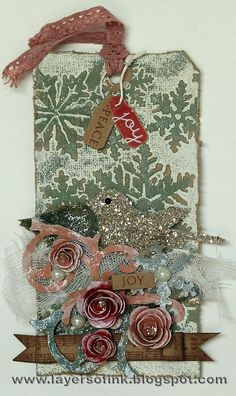 Layers of ink: 12 tags of Christmas 1 and ATC 3