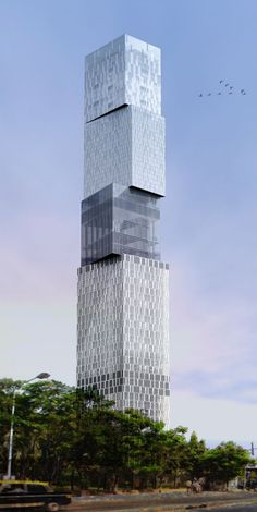 India Tower is a modern building mixed-used luxury residential development in Mumbai, India. India Tower has a design architecture that is truly unique, a masterpiece that is very beautiful and have great artistic value high. Tower is like arrangement of boxes on top of building. The design of this amazing tower designed by architect FXFOWLE.