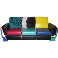 Harry Segil Multicolor  Mid- Century Modern 1970th  Sofa -- for real!