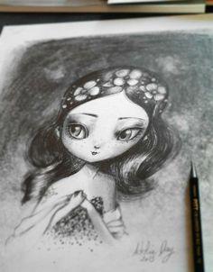 Adolie Day <<< love her work! Quirky Art, Whimsical Art, Art Et Illustration, Illustrations, No Ordinary Girl, Bel Art, Art Fantaisiste, Art Visage, Graffiti