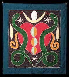 Erzulie and Dambala vodou banner