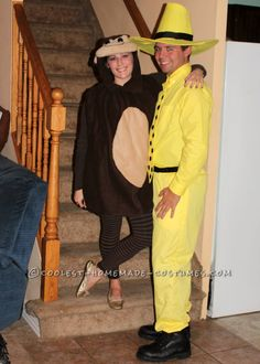 Adult Curious George and the Man with the Yellow Hat Book Character Costumes
